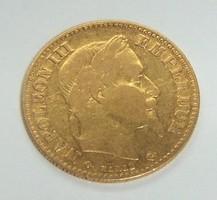 Napoleon 10 frankos arany. 1862.
