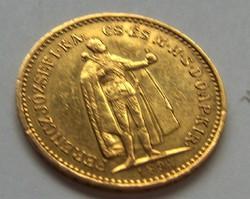 Arany 10 koronás.  1894.