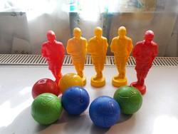 Retro nosztalgia műanyag játék focista labda