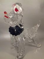 Nagy kutya muránói üveg kutya kutyus szobor 26,5 cm