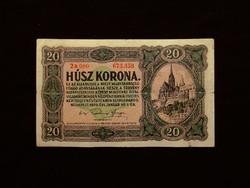 20 KORONA - PIROS SZÁMOKKAL ..KÖZTE PONT!   1920