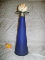 Gyertyatartó - fém, üveg - 30,5 cm