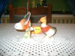 Bodrogkeresztúri kerámia madár figura - két darab
