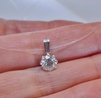 Különleges 1ct valódi moissanite ezüst nyakék