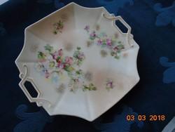 19 Sz imperial karlsbad austria art nouveau hand painted 8 square pliers bowl