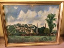ORAVECZ IMRE (1894-1971) Téglagyár, 80x60