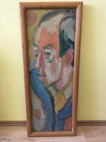 CS. NÉMETH MIKLÓS (1934-2012) Pirosszemű portré, önarckép 35x98