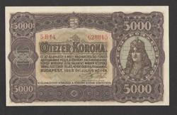 5000 korona 1923.  aUNC!!   GYÖNYÖRŰ!!