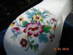 """Coalport  angol """"Ming Rose""""-vintage 1960 hatszögletes váza-21,5 cm"""