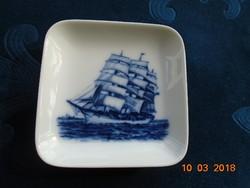 Royal Coppenhagen kék-fehér plakett-falidísz Régi vitorlás hajó-2985-14 /985