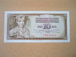 JUGOSZLÁVIA 10 DINÁR 1968 HAJTATLAN