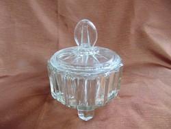 Art deco üveg bonbonier  / 1354