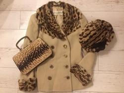 Eredeti vintage kabát  ( 60-as évek) a francia Carven divatháztól 38-as méret