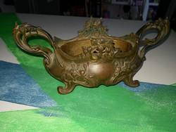 Antik Francia Art Nouveau stilusú bronz asztalközép.
