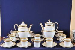 Antik bécsi porcelán kávéskészlet, 19. század, Altwien