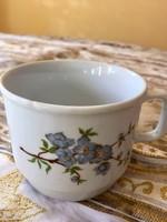Antik Zsolnay kék barackvirágos bögre, csésze