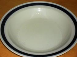 Régi szép Kék hollóházi csíkos mély tányér