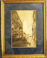 B. A. Fehér:  Sacre Coeur bazilika (Párizs) rézkarc