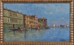Karl Kaufmann (L. Bertini) (1843-1901): Velencei látkép