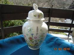 AYNSLY-WILD TUDOR (Vadvirágos Tudor) fedeles váza-makk fogóval-újszerű-címkés-20 cm