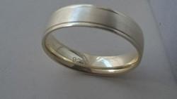 Aranyozott ezüst karikagyűrű 925