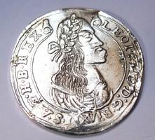 Lipót XV krajcár 1676 KB