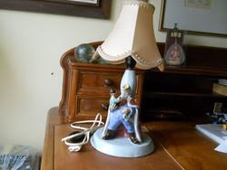 Mesefigurás antik asztali/éjjeli lámpa