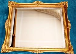 Tükör, antik blondel keretben (72 X 62 cm)