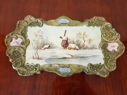 Régi porcelán fajansz falikép 1898-ból