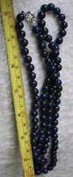 Lápisz lazuli 8 mm gömbökből nyaklánc 86 cm, antiallergén szerelék