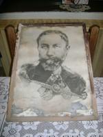 Lüchnsdorff Károly rajza keretben, üveg alatt - SÉRÜLT