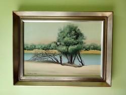 Pintér József olaj / farost festmény