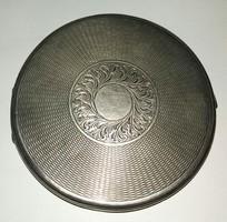 Nagyméretű Ezüst púder kompakt doboz