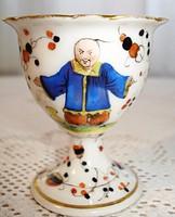 Fischer Ignác porcelán tojástartó a XIX. századból