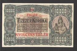"""10000 korona 1923.  """"80 fillér"""" fb.!!  aUNC!!  RITKA!!  GYÖNYÖRŰ!!"""