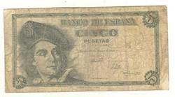 5 peseta 1948 Spanyolország