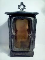 Antik ón szecessziós  egyedi sír lámpa ( Grave lamp ) urnatartó