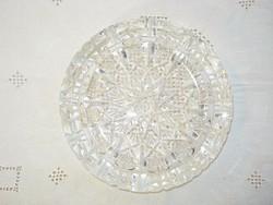 Kézzel csiszolt ólomkristály hamutál