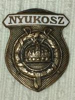 NYUKOSZ ( Nyugalmazott Katonatisztek Országos Szövetsége) Tűzzománcos jelvény , eredeti tűvel!