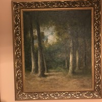 "Beautiful replica of the ""Barbizon Forest"" oil painting on canvas"