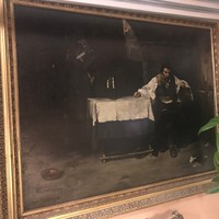 "Beautiful replica of the famous painting""Condemned Cell (The Convict)"" on canvas"