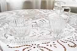 Art deco üveg asztali kínáló