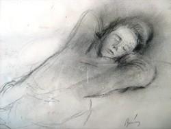 Berény Róber: Alvó nő