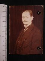 FOTÓ FOTÓGRÁFIA FÉNYKÉP MŰTERMI JELZETT KEMÉNYHÁTÚ ÚR KÉPMÁS 1914 PECSÉT KUK CS. KIRÁLY VASÚT