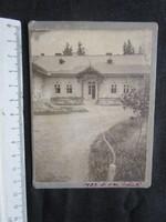 FOTÓ FOTÓGRÁFIA FÉNYKÉP 1909 JELZETT KEMÉNYHÁTÚ FELDÍSZITETT VIDÉKI KÚRIA