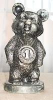 Misa, az 1980-as moszkvai olimpia kabalafigurája, fémből   /19 cm /