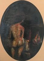 Stein János Gábor olaj, farost 66 cm X 91 cm