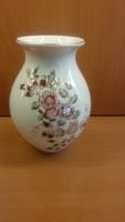 Csodaszép Zsolnay porcelán váza ritka dekorral hibátlan