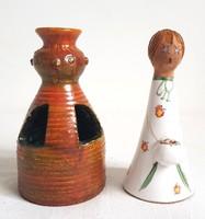 Kiss Roóz Ilona - 2db Gyertyatartó figurális 14cm