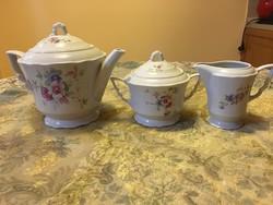 Csodálatos szép antik Zsolnay manófüles teás -, kávés készlet